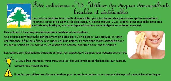 Idée 15 Disques lavables et réutilisables