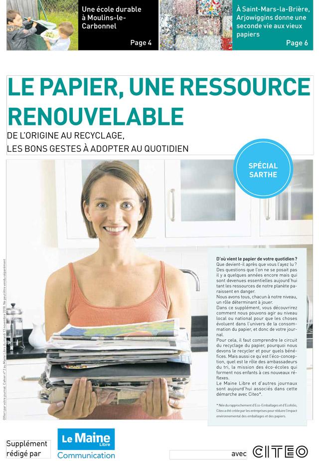 Le papier, une ressource renouvelable