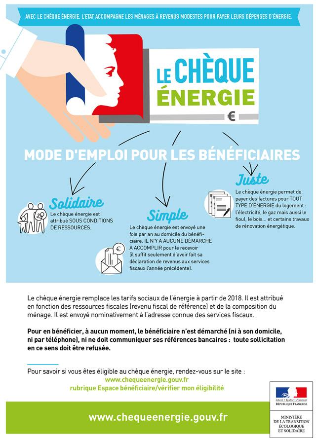 Campagne chèque énergie 2019