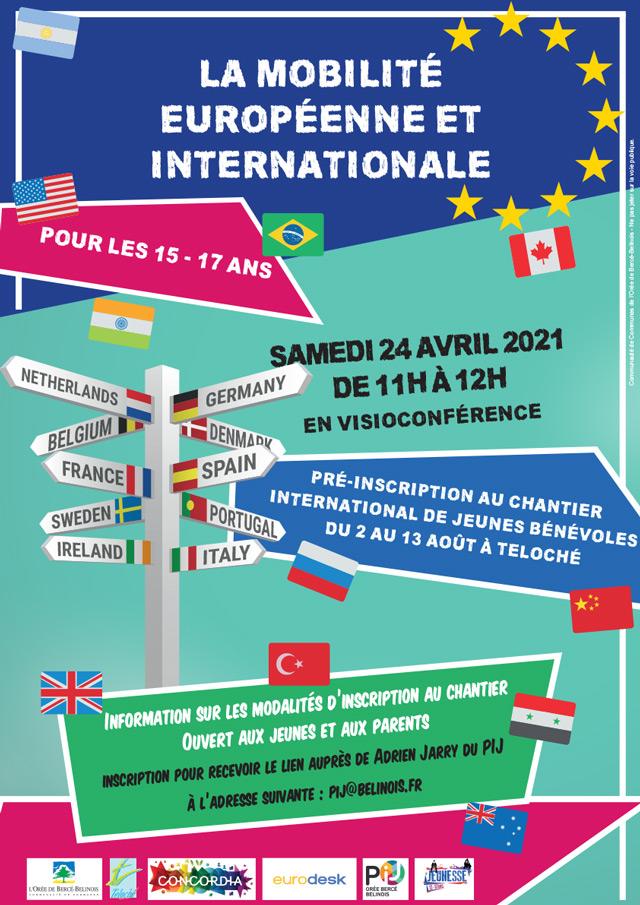 Mobilité européenne et internationale : pré-inscription pour les 15-17 ans