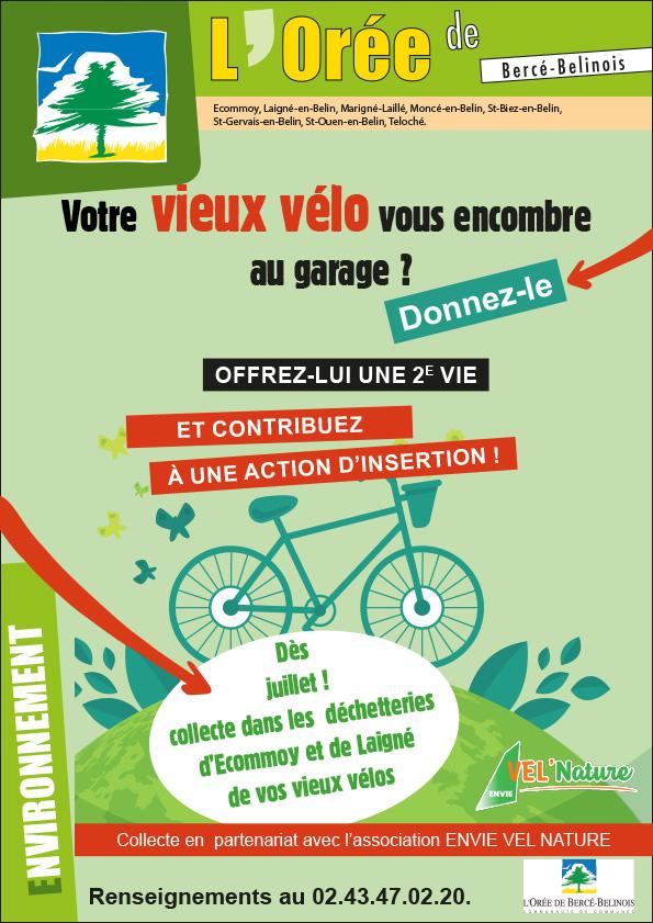 Du nouveau dans vos déchetteries : collecte de vos vieux vélos.